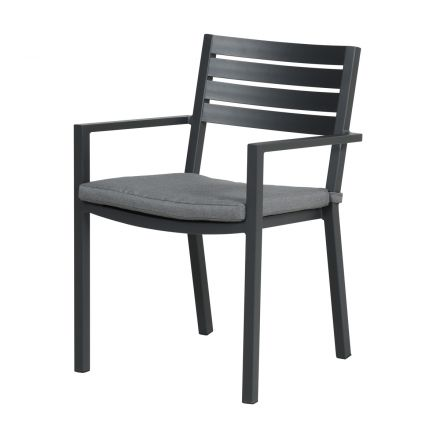 Oklahoma dining fauteuil (carbon black/licht grijs)