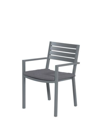 Oklahoma dining fauteuil (arctic grey/reflex black)