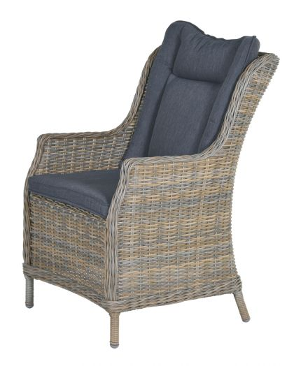 Osborne dining fauteuil (Havanna sand HØ6,5mm/reflex black)