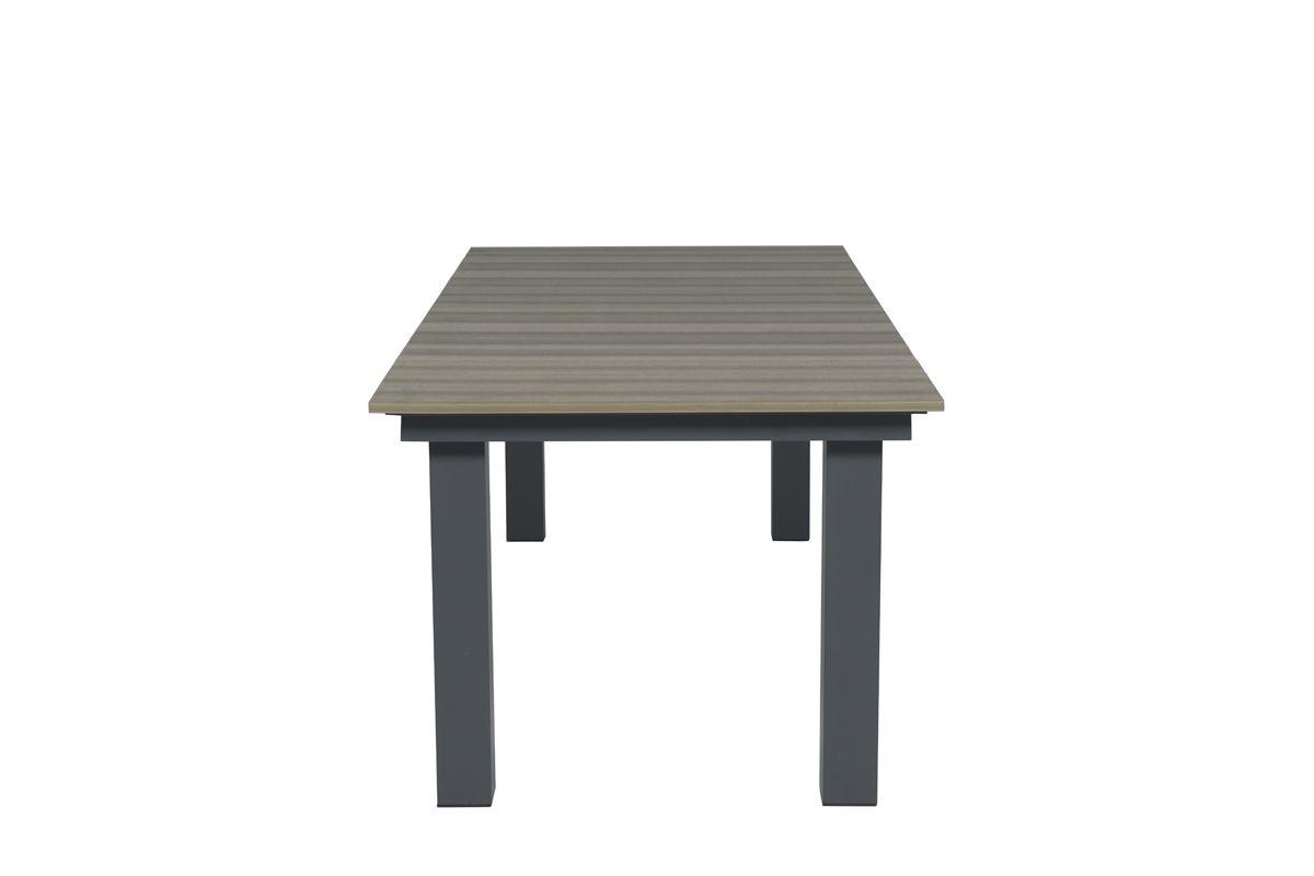 Parkland tafel 240x100xH74 cm (VW vintage teak/carbon black)