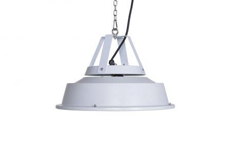 Retro hangende heater 43 cm (mat white/1500W)