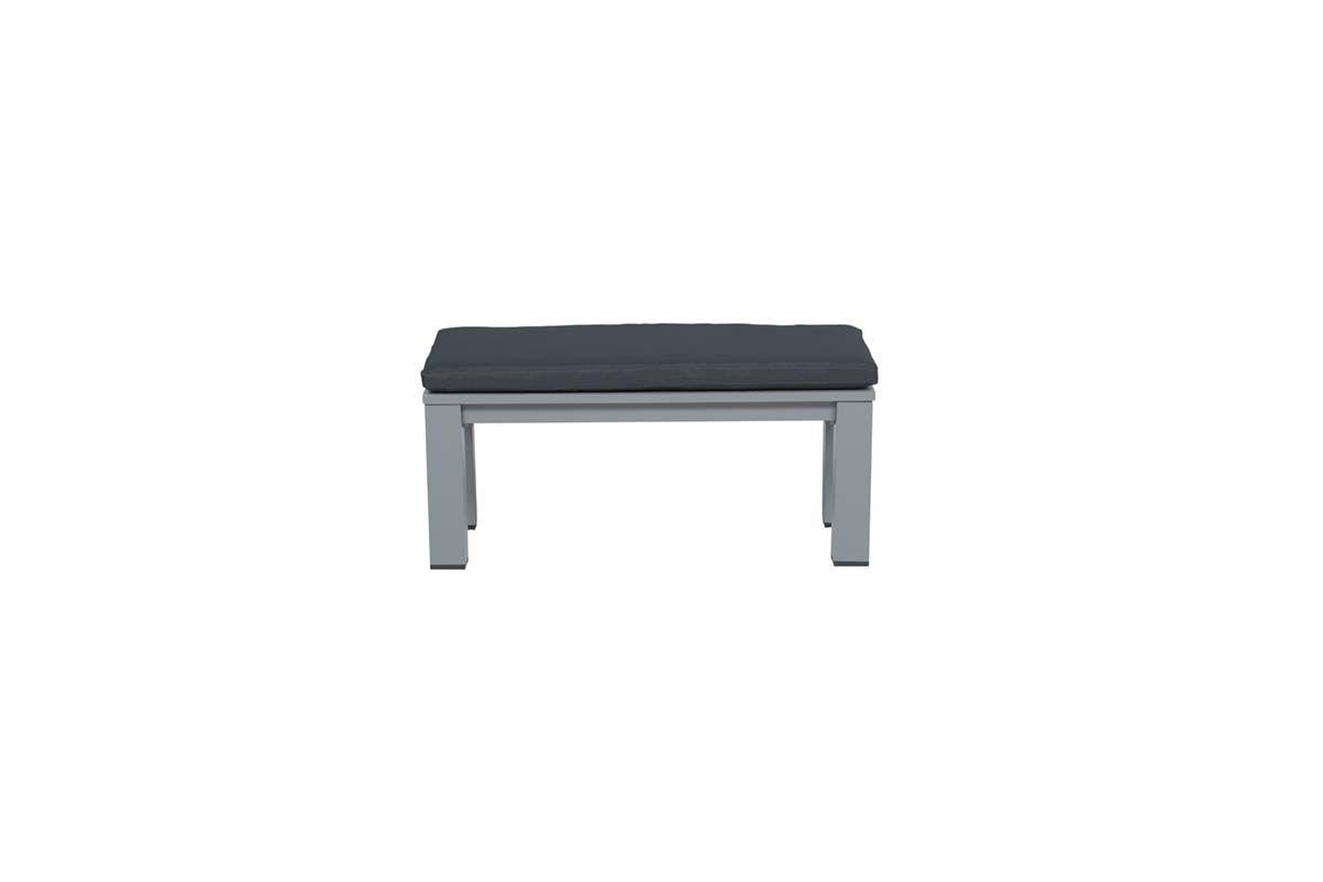 Romero lounge bank 100x43xH40 cm (arctic grey/antraciet)