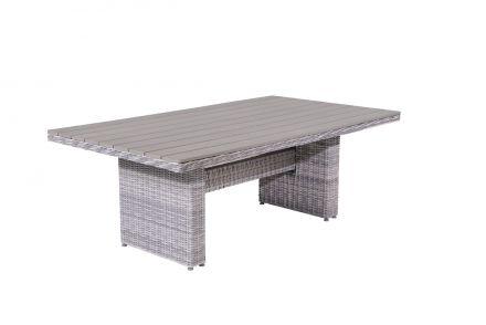 Tennessee L/D tafel 180x100 cm (cloudy grey HØ5mm/grijs polywood)