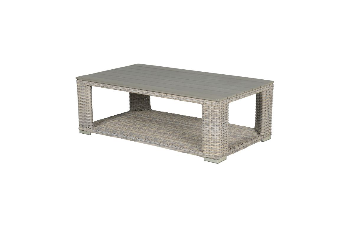 Tennessee lounge tafel 140x80 cm (vintage willow HØ6mm/sand polywood)