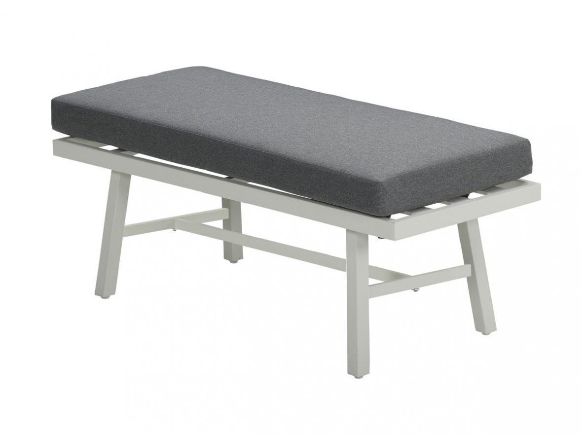 Andrea bank 120x45 (mat wit/ licht grijs)