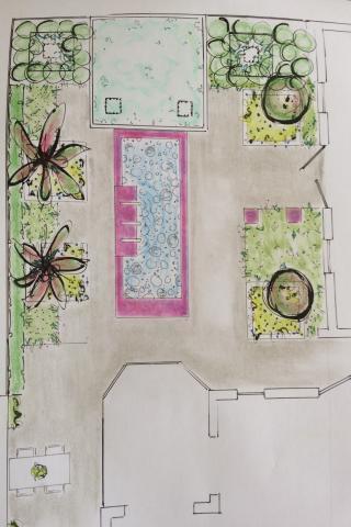 absoluut moeilijk kiezen , 2 ontwerpjes zelfde tuin