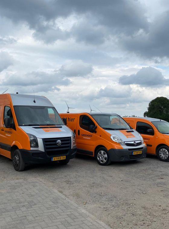 Bedrijfsbussen in nieuwe stijl