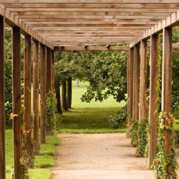 De houten pergola