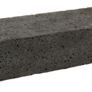 Black vulcano bloktrede big holes 100 x 35 x 15 cm