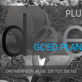 Ontwerpbon plus 100 tot 200 m2 - 1 stuks