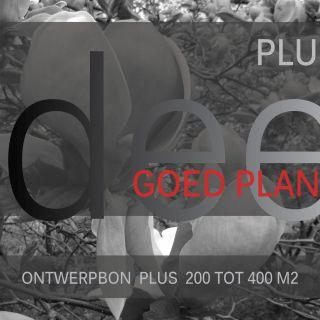 Ontwerpbon plus 200 tot 400 m2 - 1 stuks