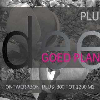 Ontwerpbon plus 800 tot 1200 m2 - 1 stuks