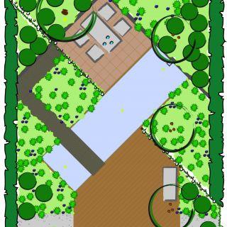 Tuinontwerp op maat | Diagonaal Tuin