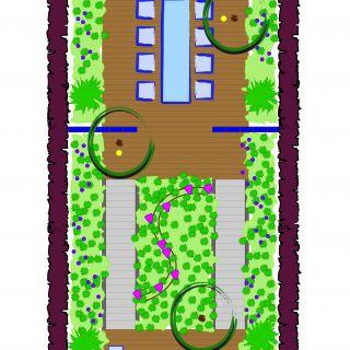 Tuinontwerp op maat | Glastegel tuin