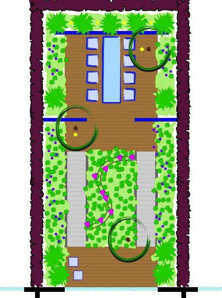 Tuinontwerp op maat   Glastegel tuin
