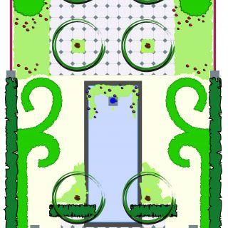 Tuinontwerp op maat | Symmetrische Tuin