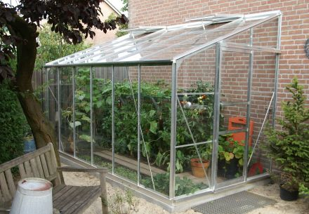 Muurkas LEAN-TO 612, tuindersglas 3mm + fundering