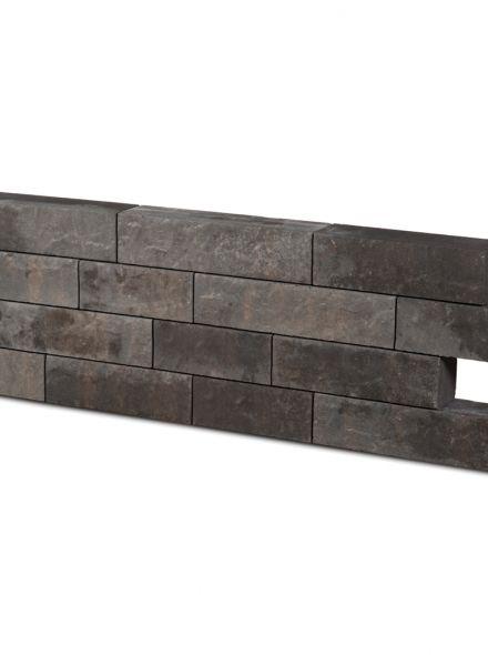 Rock Walling geborsteld sahara. Hoog 13cm, diep 12 cm, lang 31,5cm, 41,5 cm en 51,5 cm - 9,1 m2