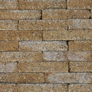 Brickwall 30x10x6,5cm geel, getrommeld 51 stuks per m2 zichtvlak - 336 stuks