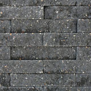 Brickwall 30x10x6,5cm grijs zwart, getrommeld 51 stuks per m2 zichtvlak - 336 stuks