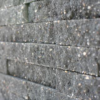 Brickwall 30x10x6,5cm zwart, getrommeld 51 stuks per m2 zichtvlak - 336 stuks