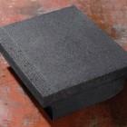 Traptrede massief 45x15x50cm met neus zwart - 12 stuks