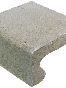 Traptrede 40x20x40cm grijs - 24 stuks