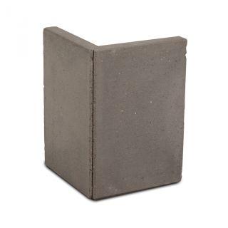 L-hoekelement 40x40x40cm grijs - 8 stuks