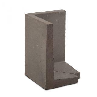 L-hoekelement 60x40x40cm grijs buitenzijde 45 graden - 6 stuks