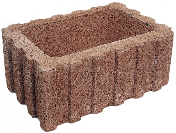 Beplantingselementen Rasterflor 60x40x25cm bruin  met bodemstuk - 36 stuks