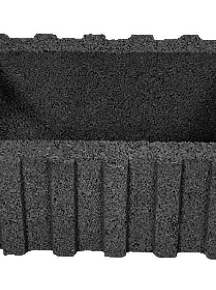 Beplantingselementen Rasterflor 60x40x25cm zwart  met bodemstuk - 36 stuks
