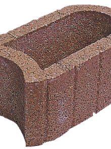 Beplantingselementen Hangflor ovaal 40x25x20cm bruin  met bodemstuk - 84 stuks