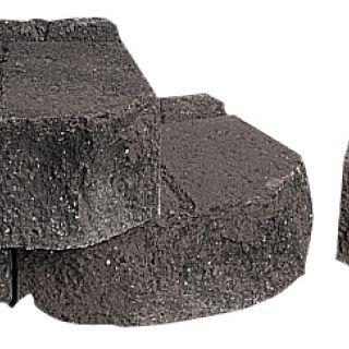 Garden Wall 30x23x12,5cm zwart - 128 stuks