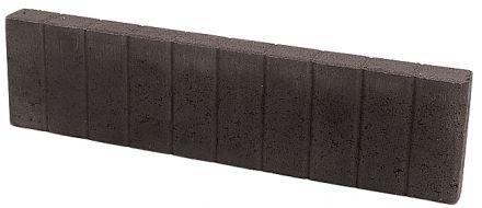 Quadrobandpalissade 8x25x100cm zwart - 39 stuks