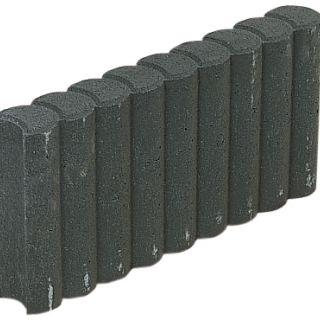 Rondobandpalissade 8x25x100cm zwart - 39 stuks