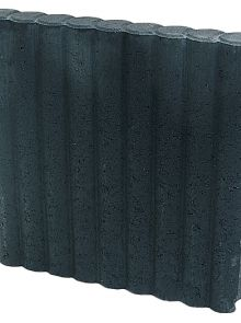 Rondobandpalissade 8x50x50cm zwart - 26 stuks