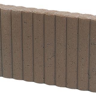 Mini Rondobandpalissade 6x25x50cm bruin - 27 stuks