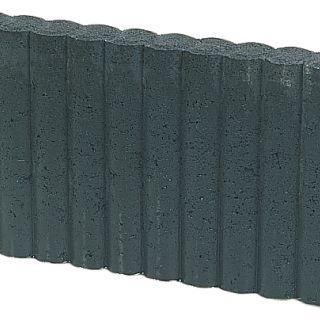 Mini Rondobandpalissade 6x25x50cm zwart - 27 stuks