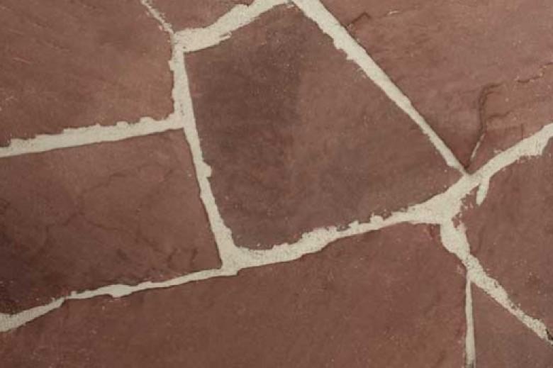 Rode Weser (Duitsland) flagstones 3-6 cm dik (per kg - 55023190)
