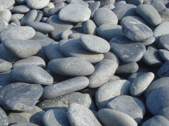 25 KG Beach pebbles 40-60mm grijs - 25 kg zak