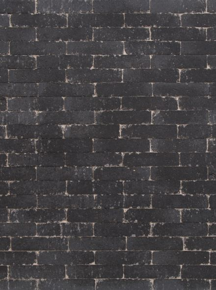 Waalformaat 20x5x7cm getrommeld zwart - 9,6 m2