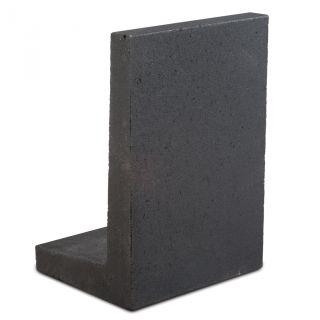 L-hoekelement 100x40x40cm zwart - 4 stuks