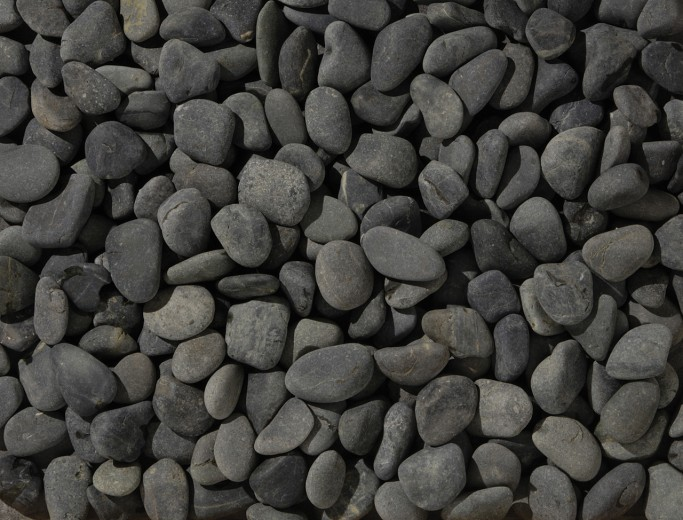 25 KG Beach pebbles 40-60mm zwart - 25 kg zak