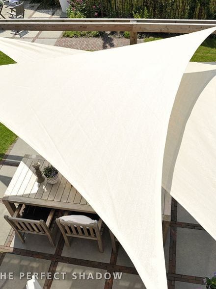 Coolfit schaduwdoek Driehoek 3,6 x 3,6 x 3,6m Gebroken Wit