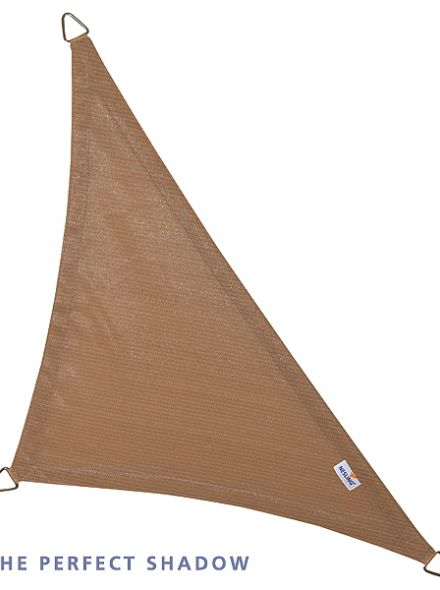 Coolfit schaduwdoek Driehoek 90°, 4 x 4 x 5.70m Zand