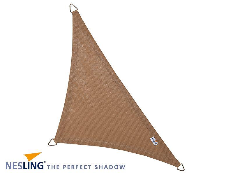 Coolfit schaduwdoek Driehoek 90°, 5 x 5 x 7.10m Zand