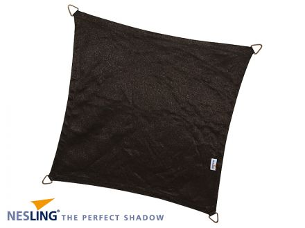 Coolfit schaduwdoek Vierkant 3,6 x 3,6 x 3,6 x 3,6m Zwart