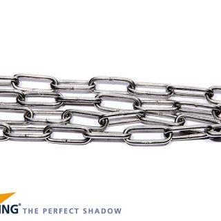N316-5 Ketting schalm 4mm, lang 2m, RVS