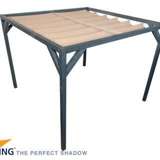 Pergola Antraciet Stand Alone 370 x 370 cm