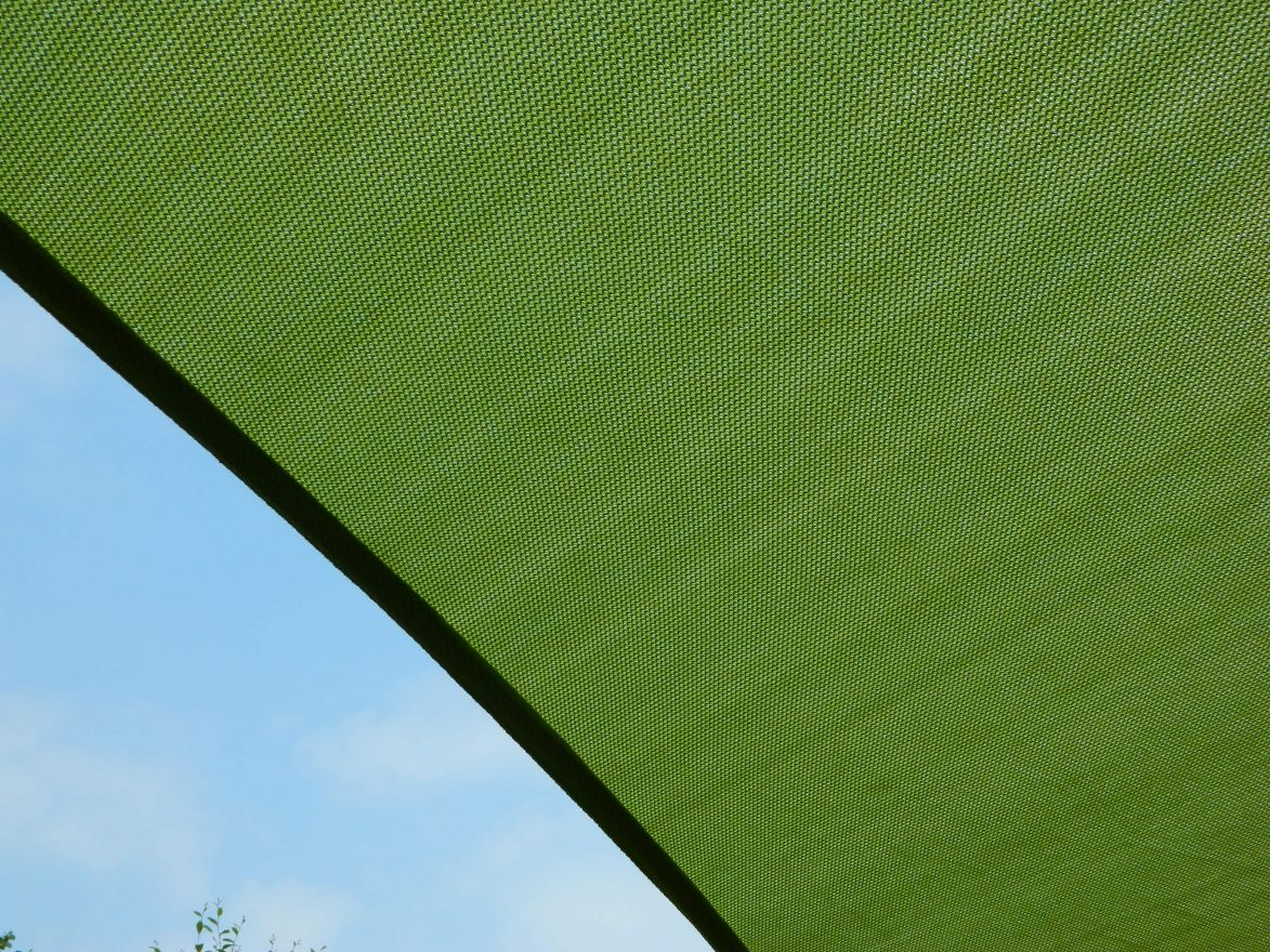 Schaduwdoek Nesling Coolfit Driehoek 5,0 x 5,0 x 5,0m, Lime groen